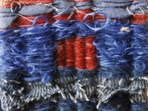 blue-orange  detail of weaving