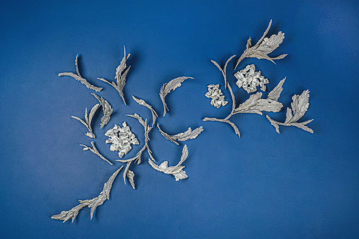 Clare Palmer Ceramics at 'Growth' in OmVed Gardens, London